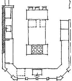 Island Kitchen Floor Plans traditional kitchen- floor plan (1) | prokitchen software-3d+floor