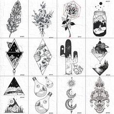 Geometric Mountain Tattoo, Geometric Tattoo Design, Geometric Universe Tattoo, Geometric Triangle Tattoo, Triangle Tattoos, Mini Tattoos, Cute Tattoos, Tattoos For Guys, Element Tattoo