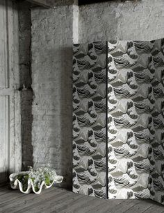 I love love love this wallpaer, Great Wave from Cole and Son.  Also comes in a blue and a neutral
