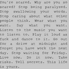 This life is yours.