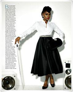 Janelle Monae does glamour for Essence Magazine