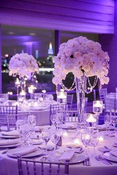 18 Amazing Wedding Centerpieces With Flowers ❤️ See more: http://www.weddingforward.com/wedding-centerpieces/ #weddings