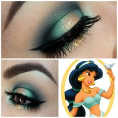 Disney® Princess Halo Eyes series Another one of my favorites, today's look is inspired by Princess Jasmine @nyxcosmetics jumbo pencil in milk as a base. @makeupgeekcosmetics peach smoothie to return the crease back to a warm skintone color. @meltcosmetics BLURR in the crease and to blend everything out along with FIXATED then DARK MATTER to add depth. @inglot_usa rainbow eyeshadow in #r135 on the outer and inner corners and brow bone highlight. @urbandecaycosmetics Half Baked in the cent...