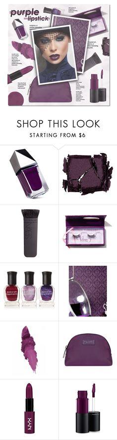 """Purple lipstick~~"" by stellacolor21 ❤ liked on Polyvore featuring beauty, GUiSHEM, Surratt, NARS Cosmetics, Deborah Lippmann, Kelly Hoppen, Maybelline, Lipault, NYX and MAC Cosmetics"