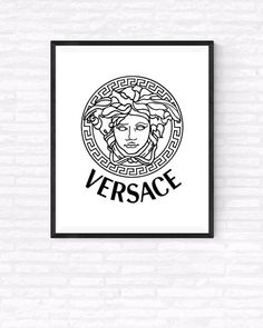 Versace Logo Art Printable Versace Fashion by GabrielPrintables