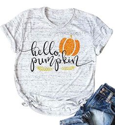 Shop a great selection of Halloween T-Shirt Hello Pumpkin Letter Print Shirt Funny Tees Women Short Sleeve T-Shirt Tops. Find new offer and Similar products for Halloween T-Shirt Hello Pumpkin Letter Print Shirt Funny Tees Women Short Sleeve T-Shirt Tops. Pumpkin Halloween Costume, Halloween Cookies, Halloween Outfits, Halloween Tops, Funny Halloween, Chic Halloween, Halloween Season, Halloween Horror, Halloween Shirt