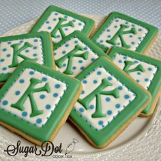 Sugar Dot Cookies: Monogram Cookies