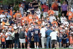 peyton manning training camp 2013   Broncos Practice No. 1 in the Books - Predominantly Orange - A Denver ...