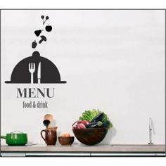 adesivo de parede menu