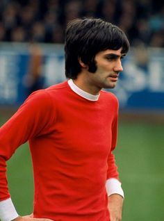 George Best on the pitch for Manchester United.