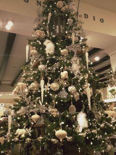 Pottery Barn Christmas Tree Inspiration.