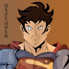 American Superheroes with japanese style