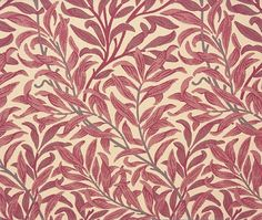 Willow Bough Upholstery Fabric Another favourite William Morris pattern, here the willow boughs design has been produced as a fine jacquard weave, in crimson on manilla.