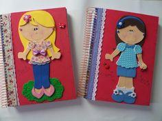 Cadernos decorados amoooo fazer!