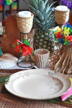Party decor from #Goodwill. #thrift #Hawaii #entertain
