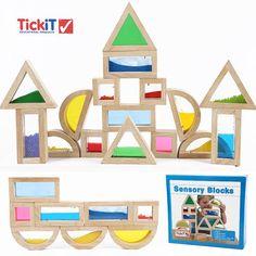 英国原单 获奖 亚克力响声积木 超大创意积木 益智礼品玩具 教具