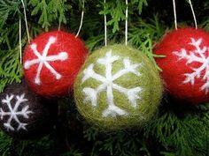 20 best christmas felted balls images on pinterest wool felt