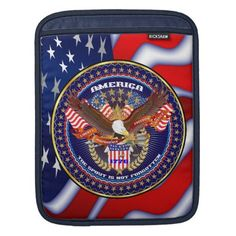 Patriotic American Customize View Notes Please iPad Sleeve