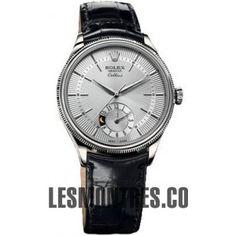 Rolex Cellini Dual Time en or blanc montre 50529 sbk