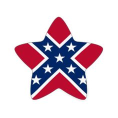 Confederate Battle Flag Star Stickers