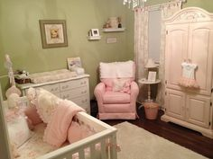 Feminine girls nursery. So pretty!