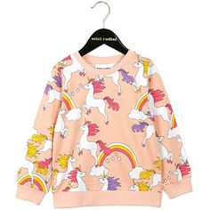 Unicorn AOP Sweatshirt in Pink by Mini Rodini - Junior Edition - 1