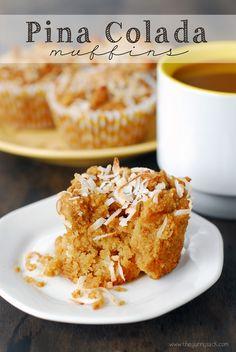 Pina Colada Muffins Recipe #coconut #sponsored #recipe