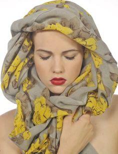 yellow rose scarf