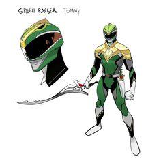 MMPR Green Ranger Redesign by Dan Mora Chaves #∆∆shani