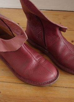 Rote Leder-Schuhe von Trippen Gr. 41-42