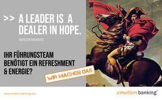 A leader is a dealer in hope - wir helfen Ihnen bei Führungsthemen. Napoleon, Video Game, Memes, Meme, Video Games, Videogames