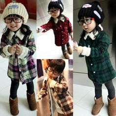Discount China china wholesale Korean Kids Unisex Wool Single-Breasted Plaids Lapel Warm Pocket Outwear Coat Jacket 2-7Y [60017] - US$11.99 : DealsChic