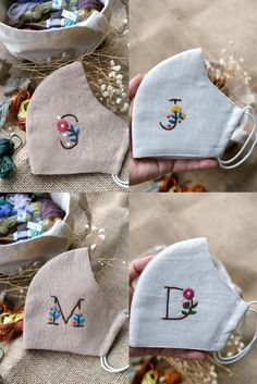 Hand Embroidery Videos, Hand Embroidery Designs, Diy Embroidery, Embroidery Stitches, Diy Mask, Diy Face Mask, Embroidery Flowers Pattern, Crochet Mask, Sewing Projects