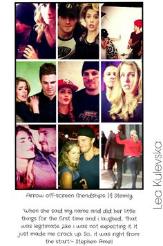 Stephen Amell & Emily Bett Rickards These two are just adorable!
