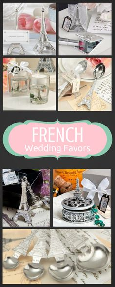 These French wedding favors are so lovely.