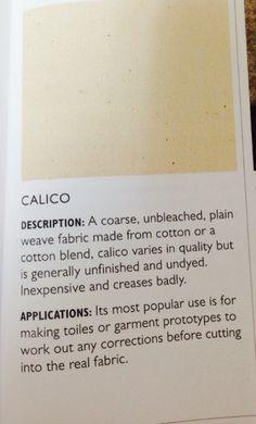 Calico- woven fabric (medium weight)