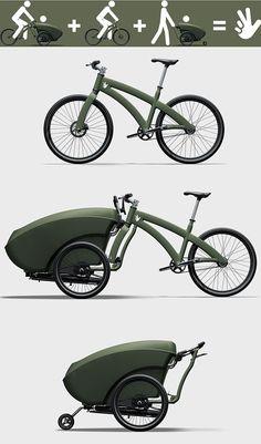 Voici le vélo, le triobike, que tous les jeunes parents dans le vent et un peu sportif devraient demander à Noël. Ce superbe vélo est un vélo 3 en 1 qui permet donc de faire du vélo seul, d'emmener vos enfants en ballade à l'avant du vélo et d'utiliser uniquement la poussette pour se promener  lire la suite
