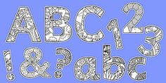 Mindfulness Themed Display Lettering Pack - This resource features display lettering, numbers and symbols with minfulness colouring themed illustrations in each one. Print out the letters you need to spell out your class name or topic title, or post them around your classroom..