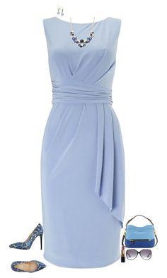 cbfa29685548c Deep blue by julietajj on Polyvore - Google Search Modely So Sukňou,  Štýlové Oblečenie,