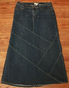:) Denim -- pants into skirt idea:
