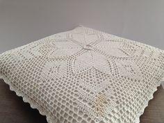 Jahrgang häkeln Kissen RS weißer Spitze Kissen von TextilesVintage