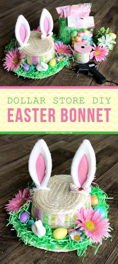 If you're looking to make your own Easter hat, here's our easy and fun DIY Easter bonnet using items from Pure Costumes and the dollar store. Easter Hat Parade, Easter Arts And Crafts, Diy Ostern, Easter Traditions, Easter Activities, Easter Celebration, Dollar Stores, Easter Bonnets, Easter Bunny