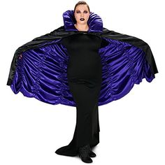Introducing Purple  Black Reversible Cape Adult Plus. Get Your Ladies Products Here and follow us for more updates!
