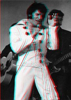 Elvis anaglyph