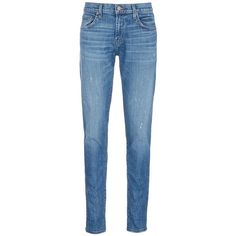 J Brand 'Tyler Taper' distressed denim jeans ($248) ❤ liked on Polyvore featuring men's fashion, men's clothing, men's jeans, blue, j brand mens jeans, mens tapered jeans, mens distressed denim jeans, mens blue jeans and mens slim fit tapered jeans