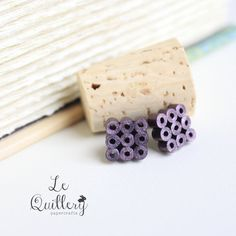 Hypoallergenic Handmade Quilling Jewery Violet by LeQuillery, $14.00
