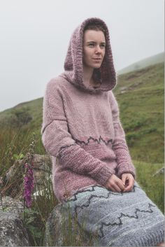 'Sky' Sweater Dress - Icelandic Wool and Sustainably sourced wool Suzanna James Knitwear Photo Credit: Matt Honey Photography