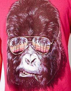 Image 3 of New Look T-Shirt with Gorilla Print-ASOS TEE