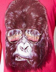 Image 3 ofNew Look T-Shirt with Gorilla Print-ASOS TEE