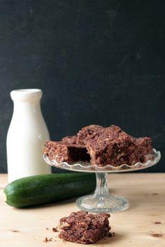 Chocolate, Courgette (zucchini) and Pecan Brownies (vegan) | Veggie Desserts Get my vegan Chocolate Courgette Brownies recipe. It's moist and chocolatey, with pecans and zucchini. veggiedesserts.co.uk